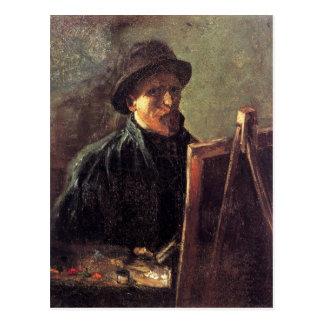 Self-Portrait with Dark Felt Hat by Vincent van Go Postcard