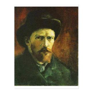 Self Portrait with Dark Felt Hat Postcard