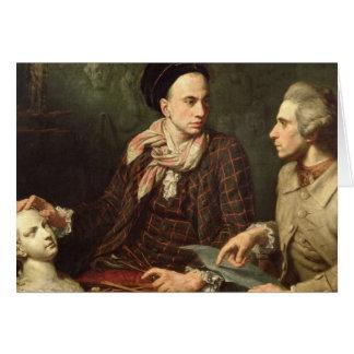 Self Portrait with Dominique Herment  1769 Card