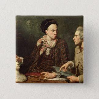 Self Portrait with Dominique Herment  1769 Pinback Button