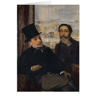 Self Portrait with Evariste de Valernes  c.1865 Card