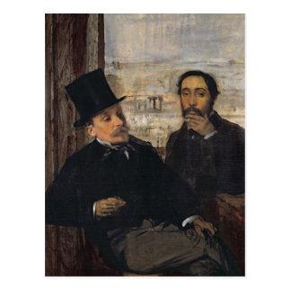 Self Portrait with Evariste de Valernes  c.1865 Post Cards