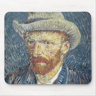 Self Portrait with Felt Hat, 1887-88 (oil on canva Mouse Pad