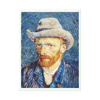 Self Portrait with Felt Hat Vincent van Gogh art Stretched Canvas Print