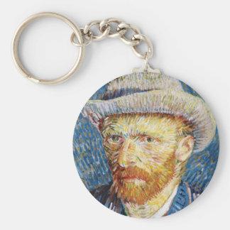 Self Portrait with Felt Hat Vincent van Gogh art Keychain