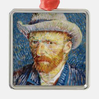 Self Portrait with Felt Hat Vincent van Gogh art Metal Ornament