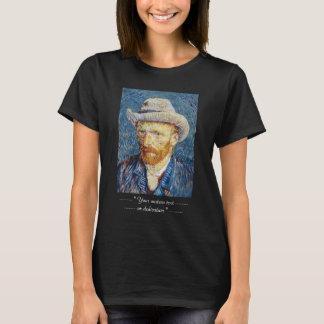 Self Portrait with Felt Hat Vincent van Gogh art T-Shirt