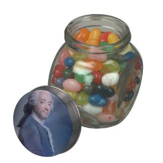 Self-Portrait with frill by Maurice de La Tour Glass Candy Jars