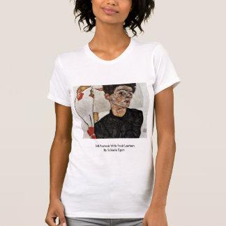 Self-Portrait With Fruit Lantern By Schiele Egon T-Shirt