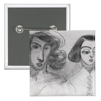 Self Portrait with George Sand Pinback Button