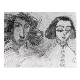 Self Portrait with George Sand Postcard