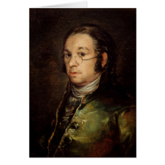 Self Portrait with Glasses, 1788-98 Card