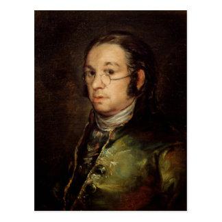 Self Portrait with Glasses, 1788-98 Postcard