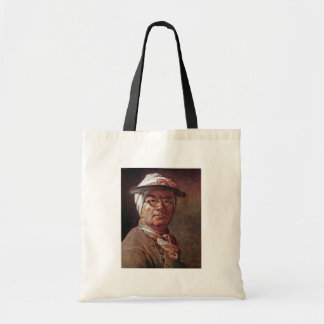 Self-Portrait With Glasses By Chardin Jean-Baptist Tote Bag