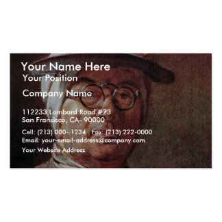 Self-Portrait With Glasses By Chardin Jean-Baptist Double-Sided Standard Business Cards (Pack Of 100)