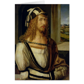 Self Portrait with Gloves, 1498 Card