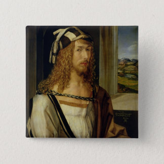 Self Portrait with Gloves, 1498 Pinback Button