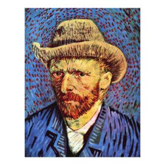Self-Portrait With Gray Felt Hat By Vincent Van Go Flyer