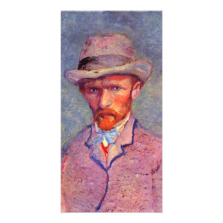 Self-portrait with gray hat by Vincent van Gogh Card