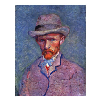 Self-Portrait With Gray Hat By Vincent Van Gogh Flyer