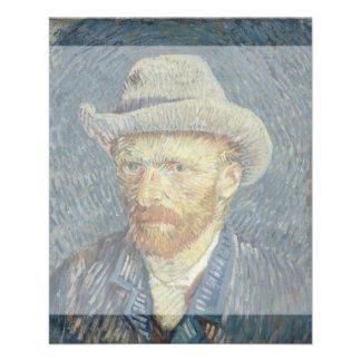 Self-Portrait with Grey Felt Hat by Van Gogh Flyer