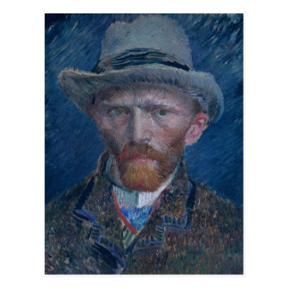 Self-Portrait with Grey Felt Hat Postcard
