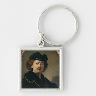 Self Portrait with Hat and Gold Chain, 1633 Keychain