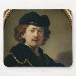 Self Portrait with Hat and Gold Chain, 1633 Mouse Pad