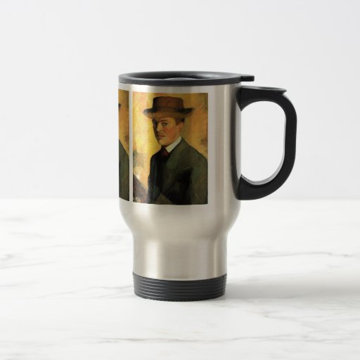Self-Portrait with Hat by August Macke Coffee Mugs