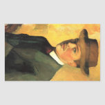 Self-Portrait with Hat by August Macke Stickers