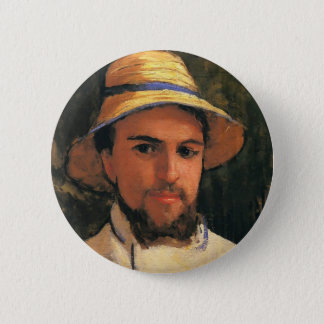 Self-Portrait with Helmet by Gustave Caillebotte Button