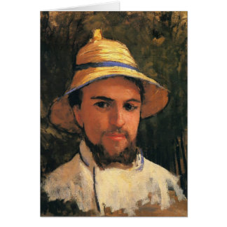 Self-Portrait with Helmet by Gustave Caillebotte Greeting Card