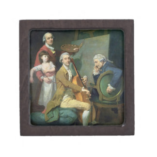 Self Portrait With his Daughter, Maria Theresa (?) Gift Box
