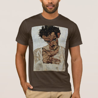 Self-Portrait With His Head Down By Schiele Egon T-Shirt