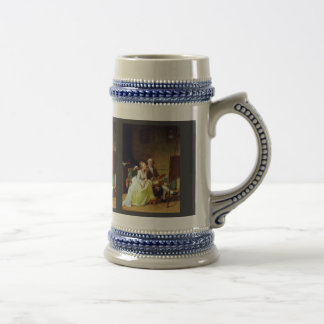 Self-Portrait With His Wife By Juel Jens (Best Qua 18 Oz Beer Stein