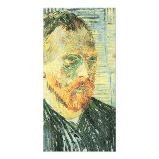 Self-portrait with Japanese woodblock - van Gogh Card