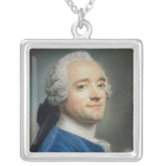 Self Portrait with lace jabot Silver Plated Necklace