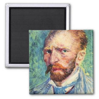 Self-portrait with light blue tie by van Gogh Magnet