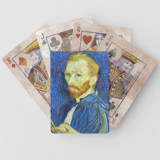 Self Portrait with Pallette vincent van gogh Playing Cards