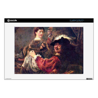 Self-Portrait with Saskia by Rembrandt Laptop Decals