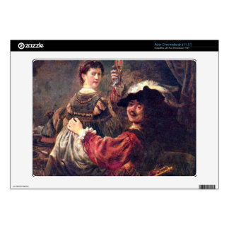 Self-Portrait with Saskia by Rembrandt Acer Chromebook Decal