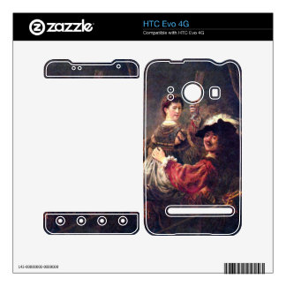 Self-Portrait with Saskia by Rembrandt Decals For HTC Evo 4G