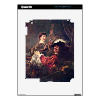 Self-Portrait with Saskia by Rembrandt Skins For The iPad 2