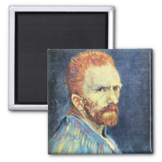 Self-Portrait with short hair by Vincent van Gogh Fridge Magnets