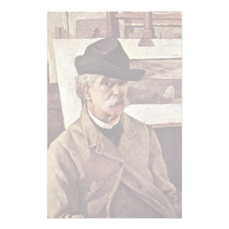 Self-Portrait With Sixty Years By Fattori Giovanni Customized Stationery