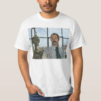 Self Portrait with Skeleton by Lovis Corinth T-Shirt