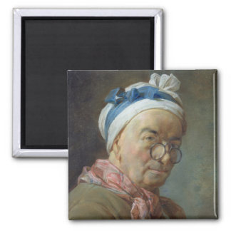 Self Portrait with Spectacles, 1771 2 Inch Square Magnet
