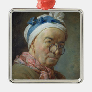 Self Portrait with Spectacles, 1771 Metal Ornament