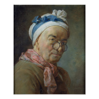 Self Portrait with Spectacles, 1771 Poster