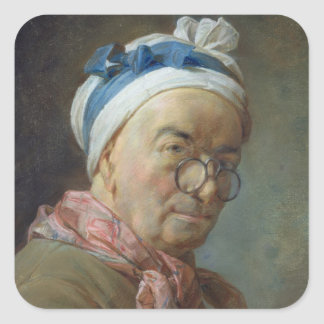 Self Portrait with Spectacles, 1771 Square Sticker